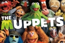 Group shot of the muppets, with movie title treatment
