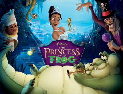 Film poster for the animated Disney film The Princess and the Frog