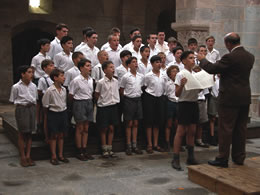 Still of a choir singing