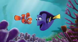 Animated image of two fish talking underwater