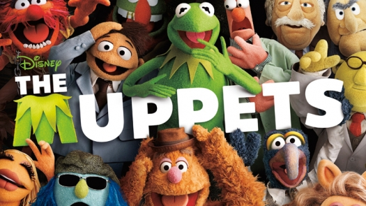 Photo of the muppets, with movie title treatment