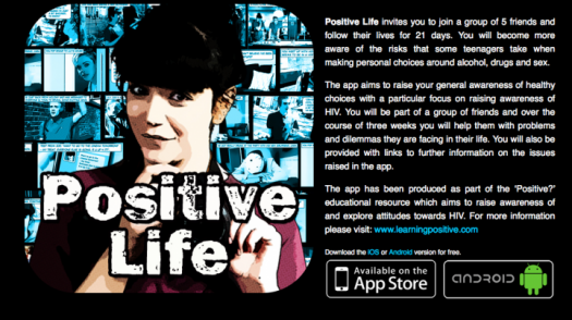 Shot of Positive Life mobile app