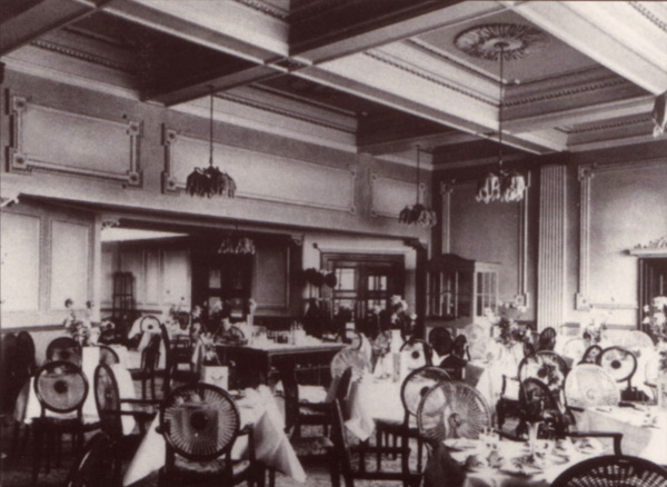 Picture of a 1930s cinema cafe
