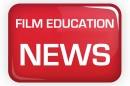 Red icon with Film Education written in white