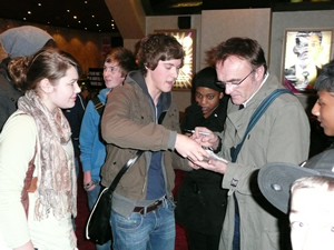 Danny Boyle with students after Film Educations premier screening of Slumdog Millionaire.